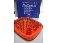 Magis Dish Doctor designer draining rack in orange and green - never used.