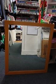 Heavy laminated mirror