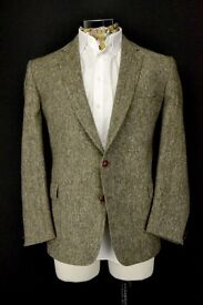 """A MAGEE DONEGAL HANDWOVEN TWEED JACKET 42"""" CHEST MEDIUM LENGTH"""
