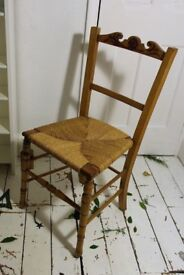 Georgian Chair With Handmade Cushion, Hygge, Arts And Crafts, Cottage, Rustic