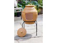 Clay Chimenea Chimenia Honeypot Design
