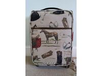 SIGNARE Equestrian Themed Tapestry Cabin Luggage/Wheeled Suitcase