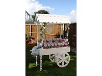 Sweet cart hire and 4ft MR&MRS letters