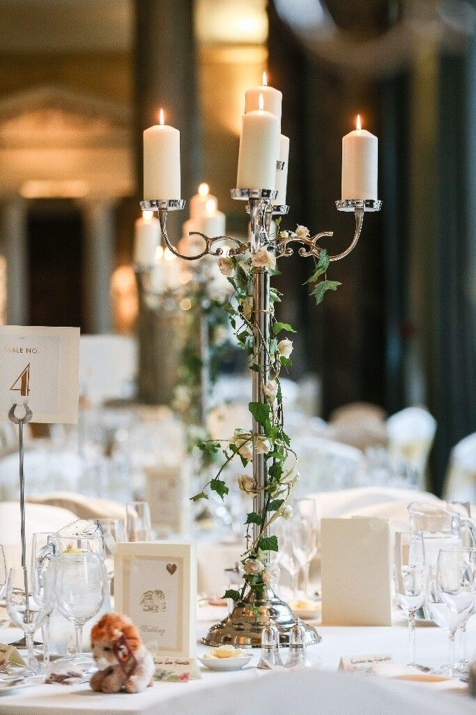 14 Large Candelabras For Sale Only Used Once As Part Of Wedding Decor