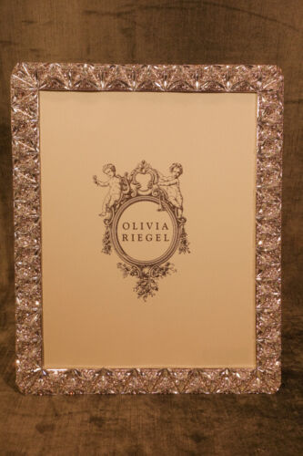 """OLIVIA RIEGEL Silver Crystal """"Felicity"""" 8x10 Photo Frame New in Box"""