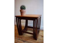 G Plan Fresco Solid Teak Nest of Tables FREE DELIVERY CENTRAL EDINBURGH
