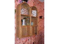 Wicker Cupboard x2