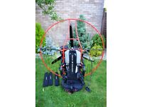 paramotor Pollini thor 190 light 7,5 hours mint condition ,6 months young