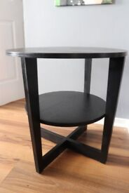 Lovely black side tables.