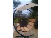 GREAT XMAS PRESENT! Wooden Hanging Chair,stand,cushion for your GARDEN/CONSERVATORY
