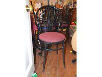 6x metal framed chairs cafe or home
