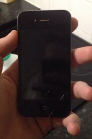 iPhone 4 cracked screen and stiff power button