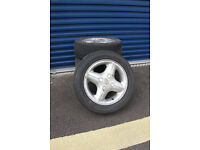 """Set of 14"""" Alloy Wheels and locking wheel nuts from W Reg Ford Fiesta"""