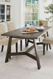 Next Solid Darkwood Trestle Table