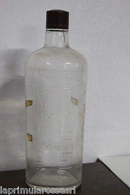 BOTTIGLIA D'EPOCA  IN VETRO ACHILLE BRIOSCHI LYSOFORM  VINTAGE GLASS BOTTLE