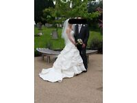 Pure Silk Angelina Faccenda Size 8 Wedding Dress - Size 8