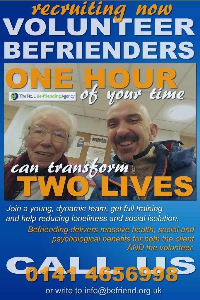 Volunteer Befriender for older people - 1 hour per week