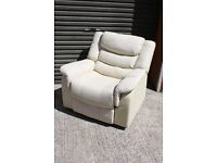 Cream Faux leather Relining chair. FREE DELIVERY IN BELFAST!