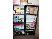 5 tier plastic storage shelves