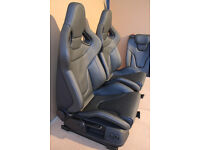 Genuine Audi RS4 Bucket Wingback Seats Front and Rear Immaculate
