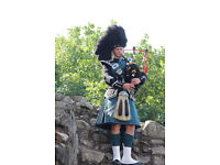 Bagpiper for all occasions: Weddings, funerals, graduations and corporate events.