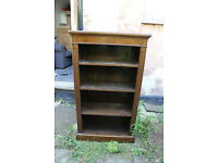 dark wood shelf unit