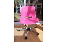 Pink Ikea desk chair