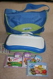 Blue Little Touch LeapPad with Carry Bag and Three Books/Cartridges