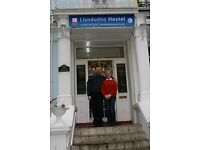 Duty Manager wanted for Llandudno Hostel on the North Wales Coast