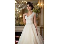 Verise Bridal 'Lisette' Princess Wedding Dress in Peach and Ivory size 14