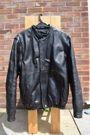 Leather Jacket 44', REAL LEATHER, Males Jacket