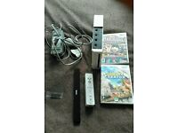 Nintendo Wii for sale with two games charger sensor bar remote £25 and no offers