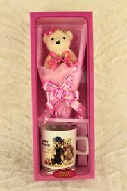 Beautiful Teddy And Cup Birthday Gift Set