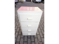 Retro Painted Chest of Drawers with Lovely Red Formica Top FREE DELIVERY CENTRAL EDINBURGH