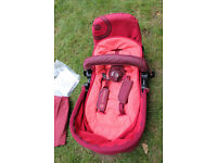 Concord Neo travel system(Lava red) Buggy(top only)Chassis not including