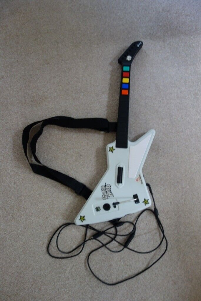 XBox 360 Guitar Hero Redoctane White Gibson X-Plorer Wired Guitar & 3  Guitar Hero games | in Bath, Somerset | Gumtree