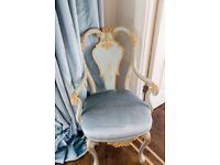 Small blue and gold chair - Quick Sale