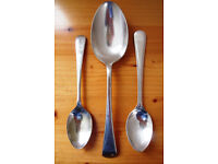 Vintage J Lyons large silver plated spoon, CPIBC teaspoon + 1 other. £4 ovno lot.