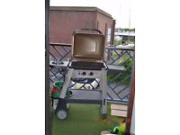 Outback Excel gas bbq with side burner & full gas bottle