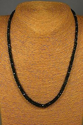 CHROMDIOPSID 75,54ct Kette Collier Classic Edelstein Heilstein Schmuck Halskette