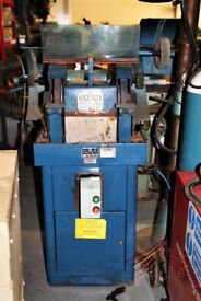 Viceroy 10 Inch Double Wheel Pedestal Grinder. Ex High School, Local/National Delivery Available.