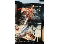 abstract paint on board