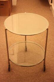 Glass Ikea Side Table (Strind)