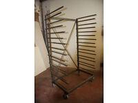Mobile Drying Rack, for sprayed work, sheet materials et c.