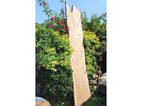 Wood slab, live edge, best table material, oak, 2.9m long, DIY