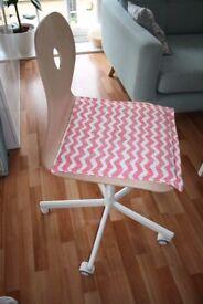 Ikea office chair (VÅGSBERG/SPORREN), swivel chair, birch veneer/white