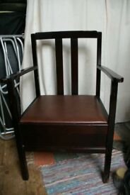 Vintage Mid Century Commode Chair