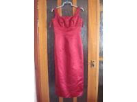 PETITE Red Bridesmaid dress, size 12