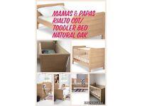 Mamas & Papas Cot/ toddler bed, mattress & bedding & matching curtains