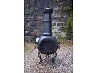 Patio Fireplace Black CHIMINEA Used/Good condition